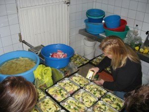 Preparing Lunch for 140 People