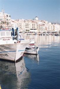 Boat at Aguilas Harbour