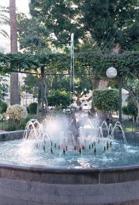 Fountain in Águilas Square