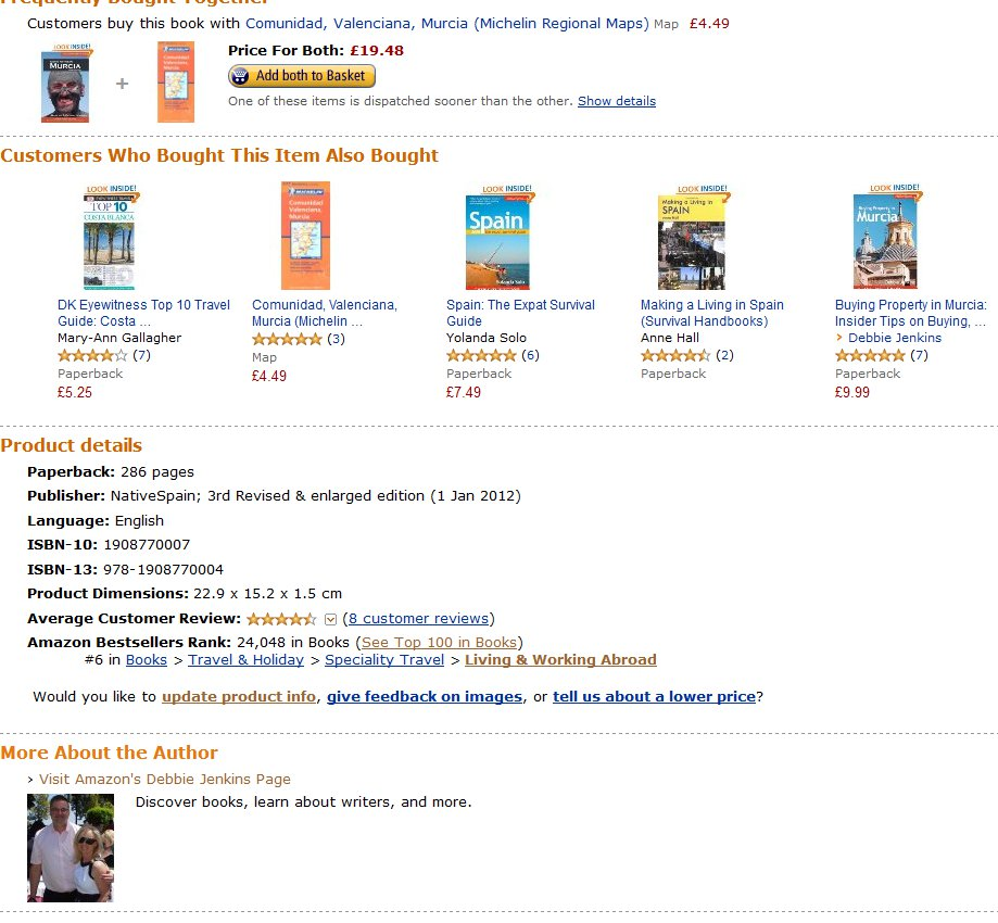 Going Native In Murcia Doing Well in Amazon.co.uk