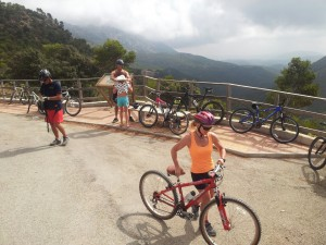 Downhill bike ride in the Sierra Espuna, Murcia