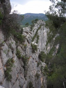 Steep cliff faces near Moratalla