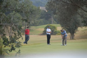 Golfers enjoying the sunshine in Murcia