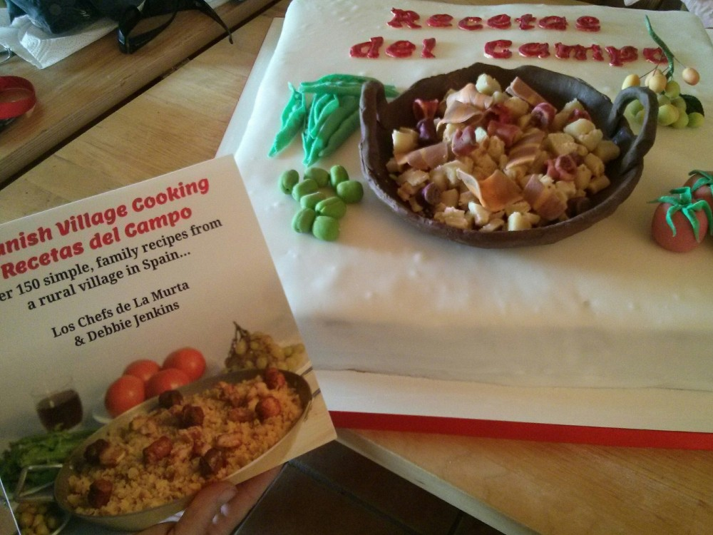 Book Launch Cake for Spanish Village Cooking – Recetas del Campo