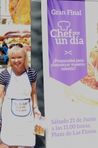 Debs taking part in a tapa cooking competition in Murcia